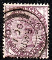 1881 SG 172 1d lilac with Colwyn Bay Double Circle Single Arc Cancellation