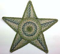 """Homespice Decor OCEAN MAZE STAR Braided Jute 20"""" Trivet, Tablemat"""
