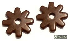 """Ropers 8 Point Spur Rowels 1"""" Ant. Brown Steel Sold in Pairs New Free Shipping"""