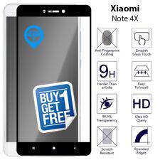 2 x Pour Xiaomi Redmi Note 4X Full Tempéré Verre Écran 9H Protector Film Noir