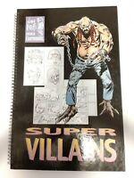 JOE KUBERT World of Cartooning School Book Drawing Comics Super Villians Huge