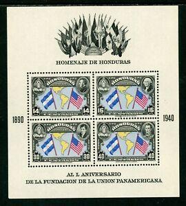 Honduras Scott #C99 MLH S/S Pan American Union 50th ANN CV$10+