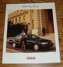 Original 1997 Geo Prizm Sales Brochure 97