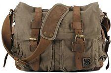 Cooler Mens Boys Vintage Canvas Shoulder Military Messenger Bag School Bags X X