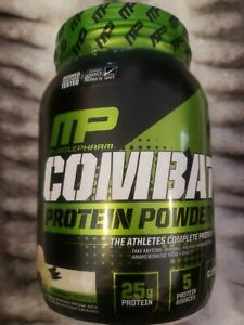 Muscle Pharm Combat Advanced Time Release Protein Powder Vanilla 2 lbs.10/22+