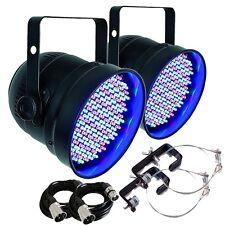 2x Showtec LED Par 56 Short Eco Black DMX Par Can Disco DJ Lighting Effect