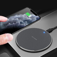 Luxury Qi Fast Wireless Charger Charging Pad For iPhone 11 Pro Xs Max Xr 8 Plus