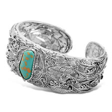 Vintage Women Boho Bohemia Turquoise Open Bracelet Cuff Bangle Jewelry Gifts US