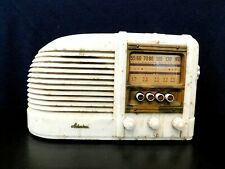 VINTAGE 1930s SWIRLED COLORS UNIQUE ADMIRAL RADIO ANTIQUE PUSHBUTTON TUBE RADIO