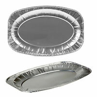 Oval Aluminium Serving Food Platter Foil Tray Sandwich Buffet Disposable Party