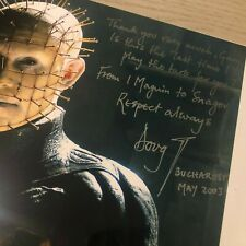 HELLRAISER DOUG BRADLEY CLIVE BARKER SIGNED ITEMS BOOK PROP CHARITY AUCTION RARE