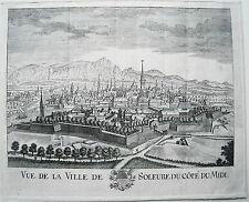 Solothurn ville de Soleure Suisse RARE âge cuivre clés pour 1750 Nº 2