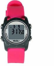 WobL + Smallest Vibrating Waterproof Reminder Watch (Pink Band/Black Case)