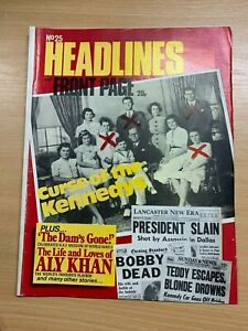 HEADLINES MAGAZINE #25 (SEPT 1973) - CURSE OF THE KENNEDYS / BILLY THE KID