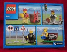 """Lego 8401 City """"MINIFIGURE COLLECTION"""" Traffic Lights & Signs Factory Sealed Box"""