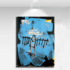 "Jean Michel Basquiat ""Fallen angel"" HD print on canvas large wall picture 36x24"""