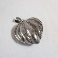 VTG Heart Pendant Sterling Silver ND 925 Norwegian Design Norway Modernist
