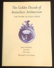 John Verge Golden Decade Australian Architecture Dupain Signed Book Limited Ed