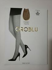 d94b50894cb2a New OROBLU Carry Fishnet Tights Full Length Stockings Pantyhose Beige Nude  S/M