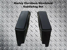 Harley Stretched Saddlebags w/Lids - Heritage Softail, Classic, Street Glide