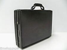 """Hartmann Belting Leather Black Slim Attache 4"""" Briefcase"""