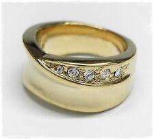 NEU 19mm/60 RING goldfarben SWAROVSKI STEINE crystal/kristallklar/klar DAMENRING