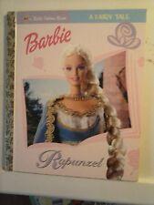 Barbie A Fairy Tale Rapunzel A Little Golden Book 2001 Hardcover Good Condition