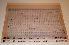 Microfich Ersatzteilkatalog Peugeot 405 - Stand 09/1992