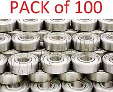 Pack/Lot 100 inline/Skate/Skateboard Ball Bearings 608Z Roller Hockey Scooters