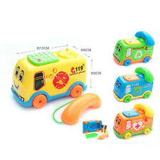 2019 Baby Toys Music Cartoon Bus Phone Educational Developmental Kids Toy Gift