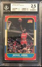 1986-87 Fleer Michael Jordan RC Rookie #57 BGS 2.5