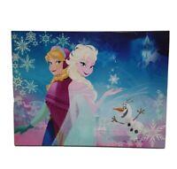 Disney Frozen Elsa Anna Olaf Lighted Canvas  Painting Wall Art Print FK318706