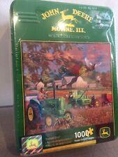 New John Deere Heritage Collector Series 'Bumper Crop' 1000 Piece Puzzle W/Tin