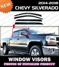 WINDOW VISORS for 14-18 Chevrolet Silverado Crew Cab / DEFLECTOR RAIN GUARD