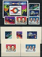 Space Raumfahrt 1975 Obervolta Upper Volta 581-585 Block 36 + Deluxe U MNH/1201