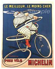 Vintage neumáticos Michelin Publicidad A2 cartel impresión