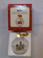 Downton Abbey Kurt S Adler Glass Ball Snow Highclere Castle Christmas Ornament