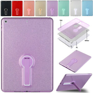 """For iPad 5th 6th 7th 8th 10.2"""" Air Pro 10.5"""" 11"""" Bling Cover Hard PC Stand Case"""