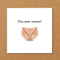 Funny Birthday Card wife girl friend female BFF bestie big pants knickers