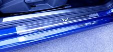 VW Golf Mk7 2013> TDI Stainless Steel Kick Plate Car Door Sill Protectors - 4pce