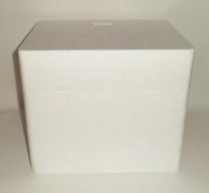 "Styrofoam Polystyrene Insulated Cooler Ice Chest Box 13"" x 10.75"" x 11"" Shipping"