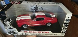 1:18 1967 Ford Mustang GT 500 E Eleanor RED By Shelby Collectibles
