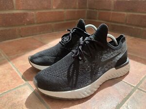 Nike Epic React Flyknit Black Dark Grey  - UK 9.5 - Good Condition - Bargain