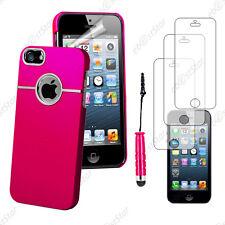 Housse Coque Silver-Line chromé Rose Apple iPhone SE 5S 5+Mini Stylet+3 Films