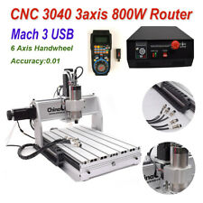 CNC 3040 3axis Router 800W Engraving Mach3 USB Milling Cutting Engraver Machine