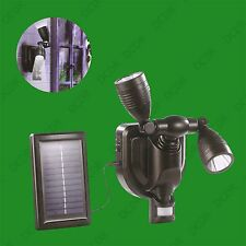3W Twin Flexible LED Solar Security PIR Motion Sensor Light Outdoor Garden Lamp