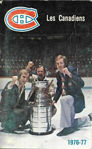 Montreal Canadiens NHL Ice Hockey Media Guide 1976/77 Lafleur Cournoyer Dryden