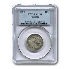 Panama 10 Centesimos 1904 PCGS AU50 KM-3