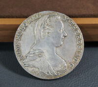 1780 Maria Theresia Thaler Taler Austria Silver Coin Coat Arms Guenzburg Strike