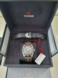 Tudor Black Bay Men's Watch  w/ Aged Leather strap Ref# 79230N-0008 Box & Papers